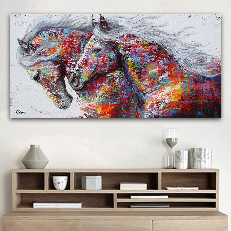 Beautiful Running Horse Painting