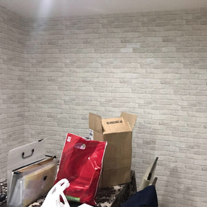 Stylish Cool Trendy Grey White Brick Wallpaper