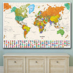 Been Around the World the World Map Oil Painting