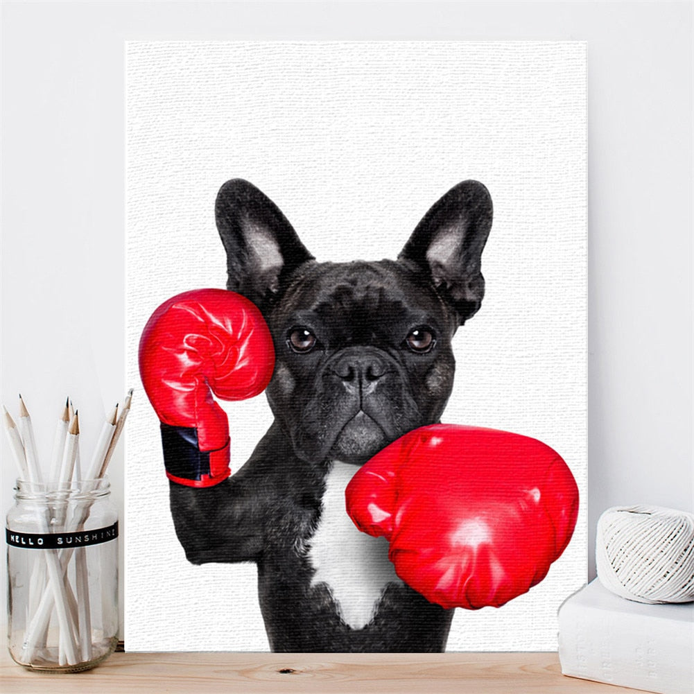 Stylish Colorful Dog Animal Lovers Posters