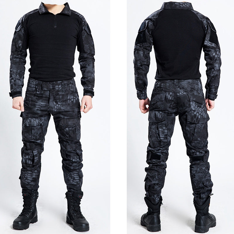 Stylish Cool Trendy Black Camo Suits