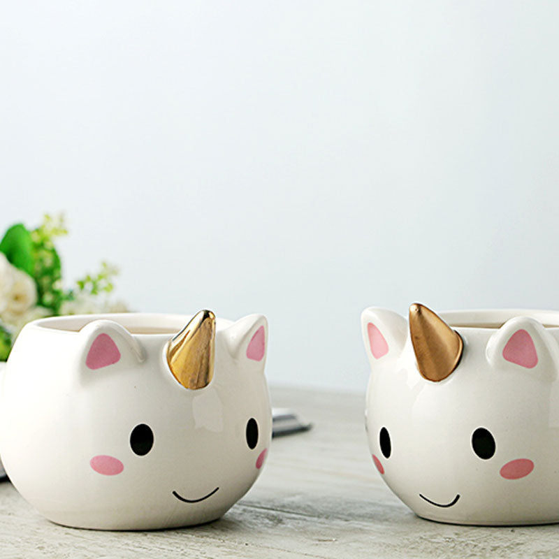 Stylish 3D Rainbow Unicorn Coffee and Tea Mug