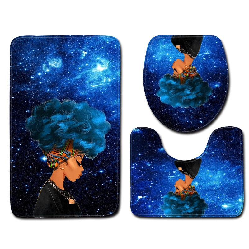 Stylish Colorful Bathroom Mats 3PCE/SET
