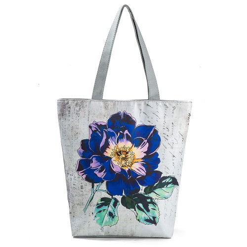Colorful Floral Printed Tote Bag Large Capacity