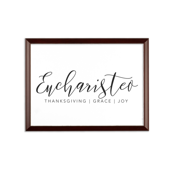 Eucharisteo_black Sublimation Wall Plaque