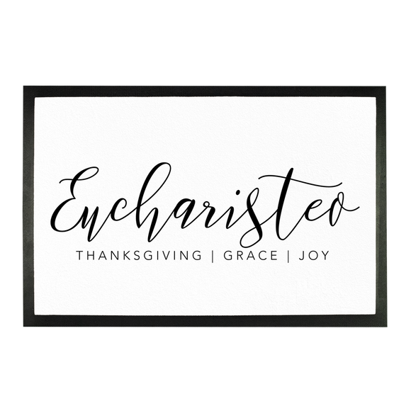 Eucharisteo_black Sublimation Doormat