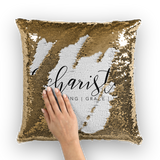 Eucharisteo_black Sequin Cushion Cover