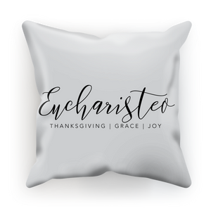 Eucharisteo_black Sublimation Cushion Cover