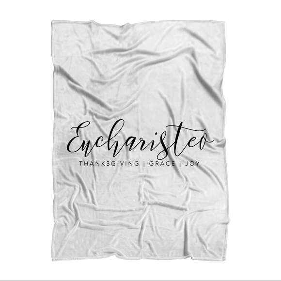 Eucharisteo_black Sublimation Adult Blanket