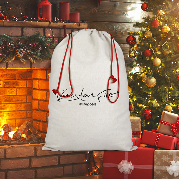 KingdomMinded-01 Sublimation Linen Drawstring Sack