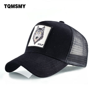 091ec61917 8 Kinds of embroidery animal Baseball Caps men Breathable Mesh Snapback caps  Unisex sun hat for