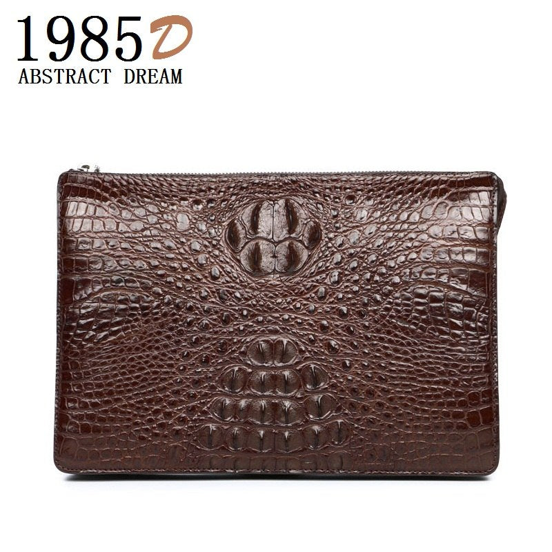 ed0e15f314e 100 % real crocodile skin luxury Handbag 2019 new men's designer Wallet  Classic leather business bag ...