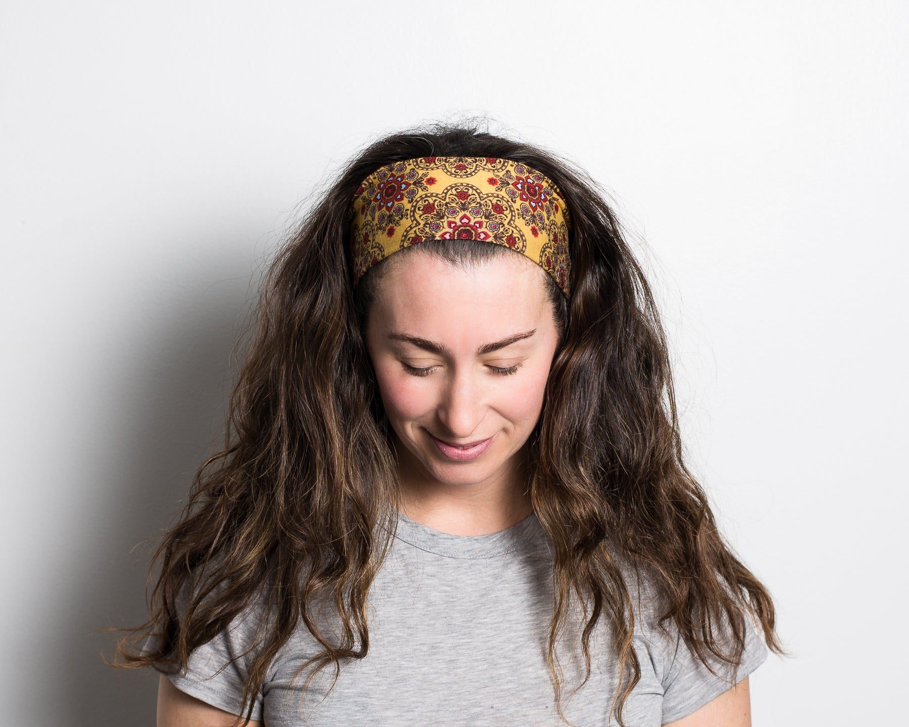 Headband - Happy Henna Mustard