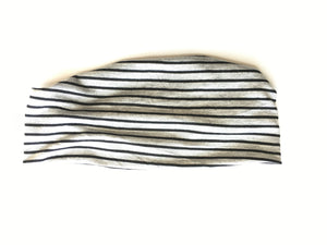 Headband - Black Stripes on Gray