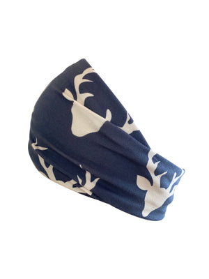 Headband- Skull on navy