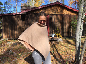 Camel brown textured poncho