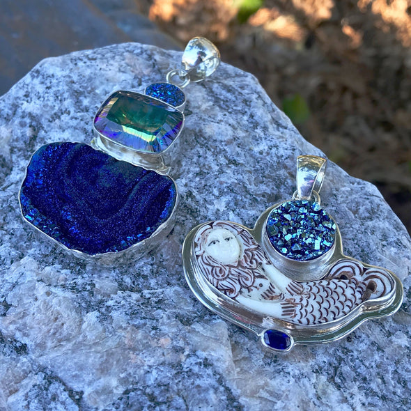 Druzy Quartz Gemstone Jewelry | Beach Treasures Online | Beach Treasures in Duck on the Outer Banks