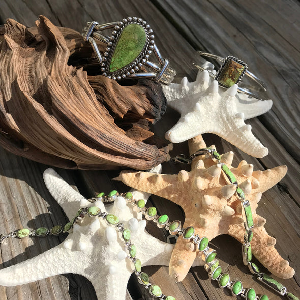 Gaspeite Gemstone Jewelry | Beach Treasures Online | Beach Treasures in Duck on the Outer Banks