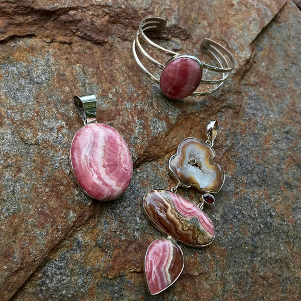 Rhodochrosite Gemstone Jewelry | Beach Treasures Online | Beach Treasures in Duck on the Outer Banks