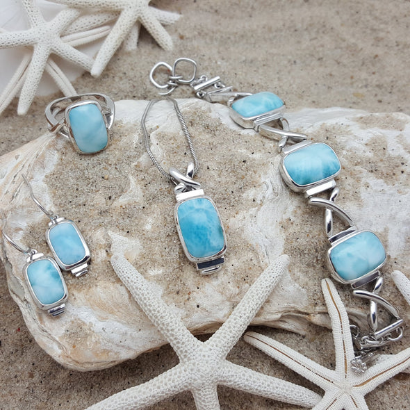MarahLago Larimar: Brie Ring - BEACH TREASURES ONLINE