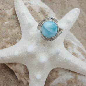 MarahLago Larimar: Adella Ring - BEACH TREASURES ONLINE