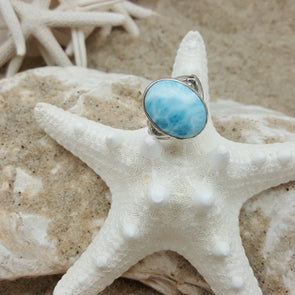 MarahLago Larimar: Basic Ring - BEACH TREASURES ONLINE