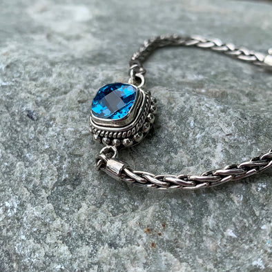 Indiri Fair Trade Blue Topaz Bracelet - BEACH TREASURES ONLINE