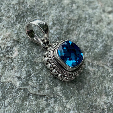 Indiri Fair Trade Blue Topaz Pendant - BEACH TREASURES ONLINE