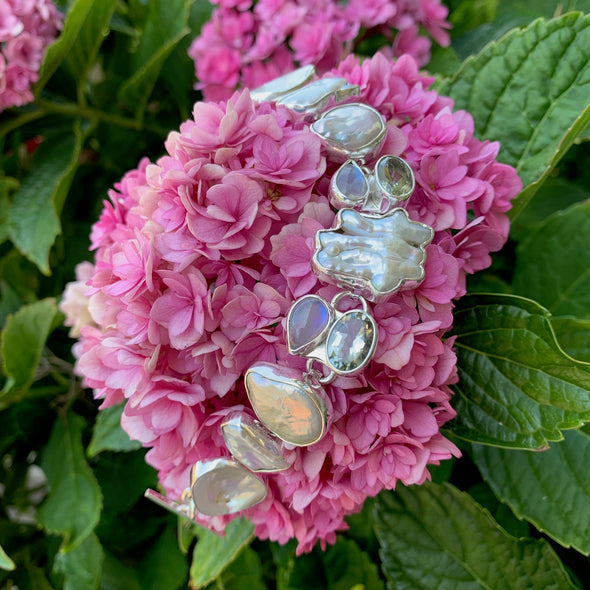 Chris Bales Mother of Pearl Gemstone Bracelet - BEACH TREASURES ONLINE