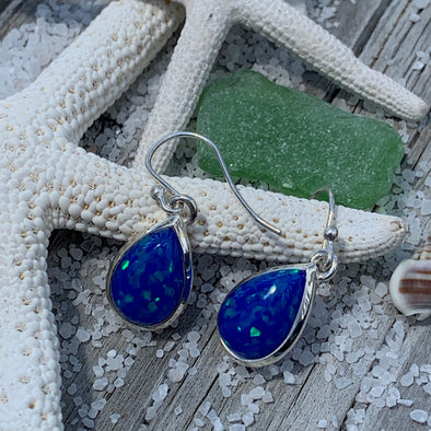 Crushed Opal Dangle Earrings - BEACH TREASURES ONLINE