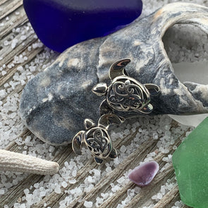 Sterling Silver Turtle Mama Pendant
