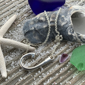 OBX Sterling Silver Hook Necklace