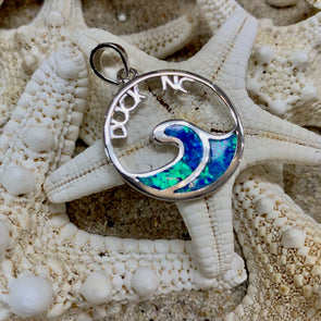 Sterling and Crushed Opal Duck NC Pendant - BEACH TREASURES ONLINE