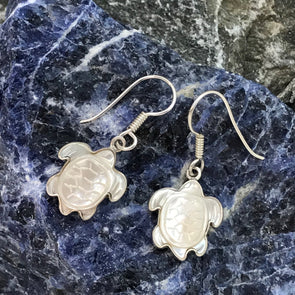 Charles Albert® Mother of Pearl Turtle Dangle Earrings - BEACH TREASURES ONLINE