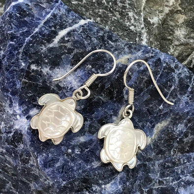Charles Albert Mother of Pearl Turtle Dangle Earrings