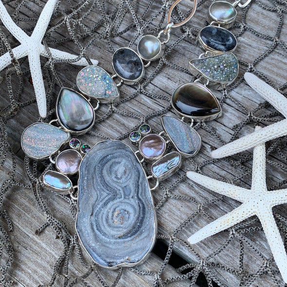 Chris Bales Druzy Quartz Necklace - BEACH TREASURES ONLINE