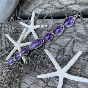 Russian Charoite Bracelet - BEACH TREASURES ONLINE