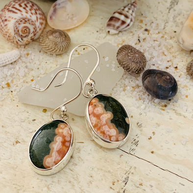 Spiny Oyster Shell Inlay Earrings - BEACH TREASURES ONLINE