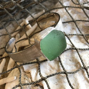 Chris Bales Seaglass Cuff Bracelet - BEACH TREASURES ONLINE