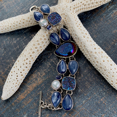 Chris Bales Kyanite and Gemstone Bracelet - BEACH TREASURES ONLINE