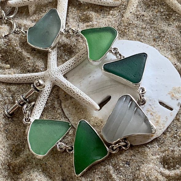 Beach Treasures Seaglass Bracelet | BT☆Sterling® - BEACH TREASURES ONLINE
