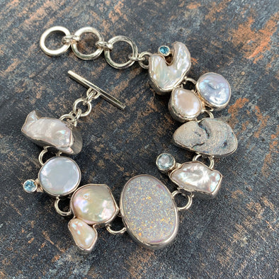 Chris Bales Multi-Gemstone Bracelet - BEACH TREASURES ONLINE