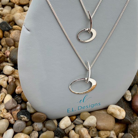 E. L. Designs Sterling Elliptical Necklace | Ed Levin Designer Jewelry - BEACH TREASURES ONLINE