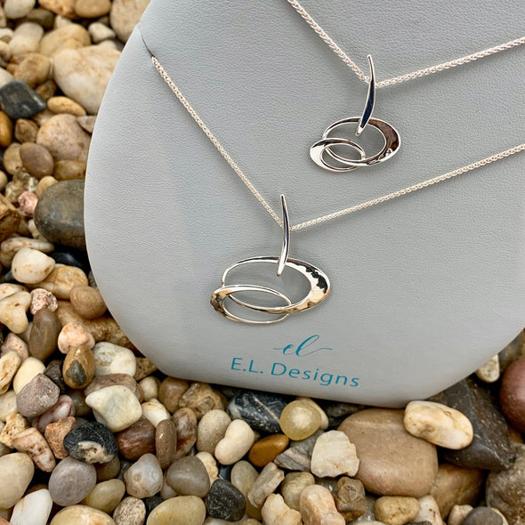E. L. Designs Sterling Entwined Elegance Necklace | Ed Levin Designer Jewelry - BEACH TREASURES ONLINE