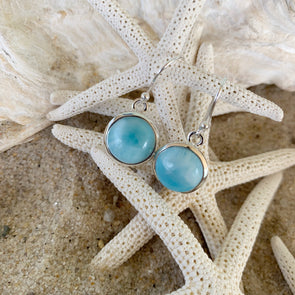 Larimar Gemstone Earrings - BEACH TREASURES ONLINE