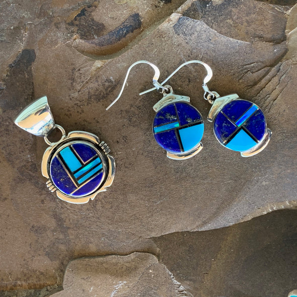 Navajo Lapis Lazuli Earrings - BEACH TREASURES ONLINE