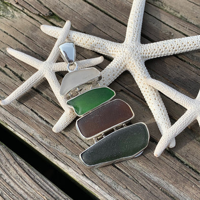 Beach Treasures Seaglass Pendant | BT☆Sterling® - BEACH TREASURES ONLINE