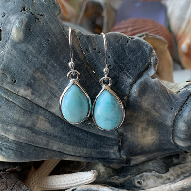 Larimar Teardrop Dangle Earrings