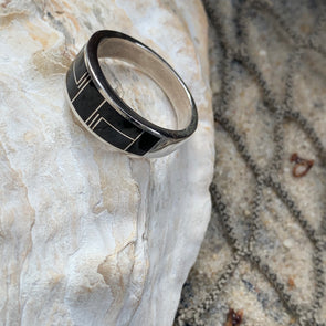 Native American Onyx Men's Ring | Men's Gemstone Jewelry - BEACH TREASURES ONLINE