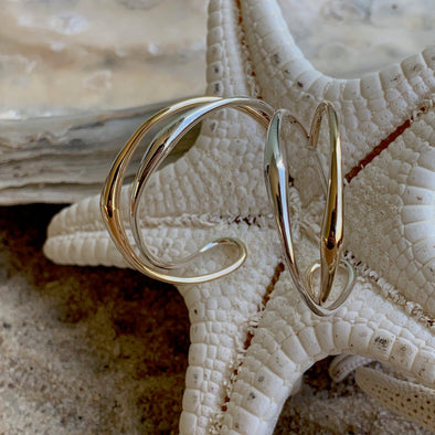 E.L. Designs Tendril Hoop Earrings | Ed Levin Designer Jewelry